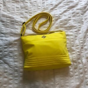 Kate Spade yellow nylon crossbody bag